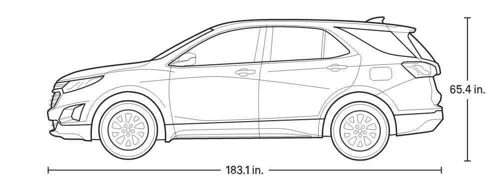 2021 Chevrolet Equinox Dimension