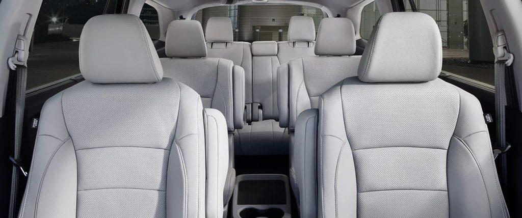 2021 Honda Pilot Interior Grey Leather